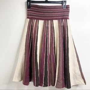 TULLE Knit Sweater skirt. Wool Blend Medium